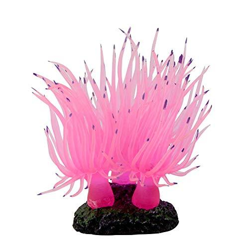Uotyle Meer Anemone künstliche, Aquarium Fisch Tank Silikon Meer Anemone künstliche Koralle Ornament von Aquarium Ornament