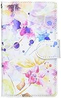 mitas iPhone8 ケース 手帳型 水彩 花 フラワー A (249) SC-0221-A/iPhone8