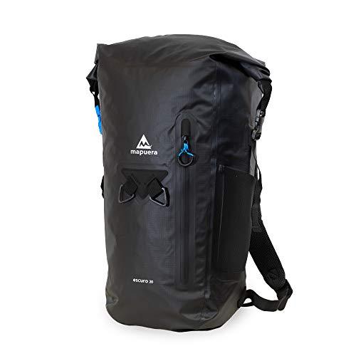 mapuera Escuro 20 - wasserdichter Rucksack schwarz 20l – auch zum Einrollen geeignet