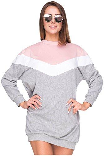 Oversize bluza damska oversized sweter hipsterski sweter blogger Colorblock pastelowy