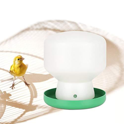 KUIDAMOS Einfach zu tragen und zu lagern White Barrel Pigeons Water Feeder für Papageien 6.30x5.51x5.51inch