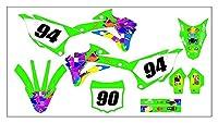 Tatumyin MDJC3015-1カスタマイズした3Mオートバイデカールステッカーグラフィックグラフィックデカールキット川崎kx85-100 2014 2015 2015 2015 2017 2019 2018 2019 hnszf