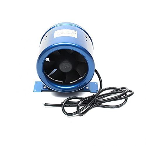 Hbao Control de Velocidad Ajustable Ventilador en línea de Flujo Mixto Tubo Circular de 4 Pulgadas / 6 Pulgadas Ventilador de ventilación de Escape silencioso de Alta Velocidad Ventilador de conducto