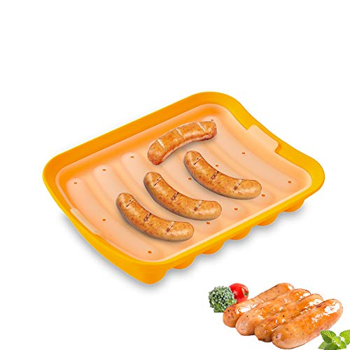 Adaskala Molde de silicona para salchichas Molde antiadherente para perros calientes Moldes en forma de dedo DIY Salchicha casera Suplemento alimenticio para niños Utensilios para hornear para horno y