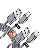 Micro USB 充電ケーブル Android HUAWEI/ファーウェイ Nova lite 2/3、Mate10lite P10lite MediaPad M3 Lite S/T2 Pro、URBANO V02 DIGNO G/ F/C(404KC)、Meraie F/Qua phone/Basio 2.4A急速 高速データ転送 高耐久 ナイロン編み ケーブル アンドロルド スマホ マイクロUSBケーブル 1-2M