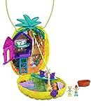 Polly Pocket Coffret Sac à Surprises Ananas avec mini-figurines Polly et Lila, accessoires et autocollants, jouet enfant, édition 2020, GKJ64