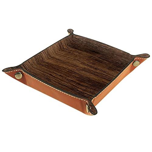 Bandeja de madera con textura de fondo para hombres, organizador de mesita de noche, organizador de mesa de entrada, bandeja de dados, organizador de aparador