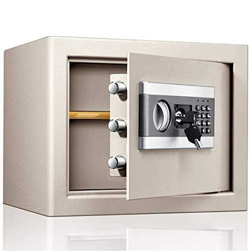 LERDBT Kabinett Safe Office Home Sicher in die Wand 30CM High and Klein Safe Elektronischer Passwort Safe Für ID-Papiere (Farbe : Schwarz, Größe : 30x31x37cm)