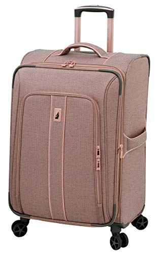 London Fog Newcastle 20' Spinner Carry-On, Rose Charcoal Herringbone