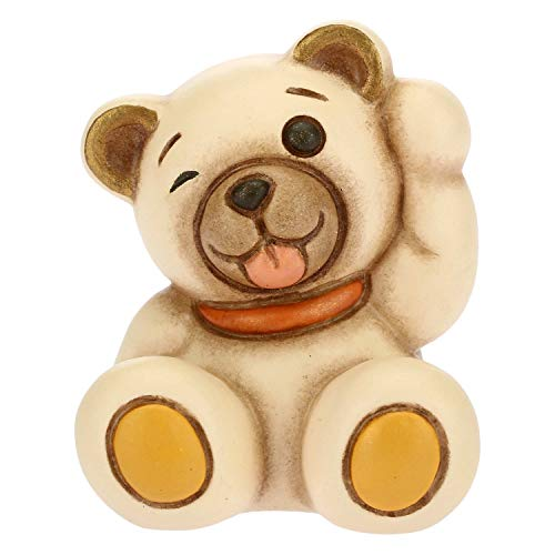 THUN - Teddy Emoticon Lingua - Idea Regalo - Linea Teddy Emoticon - Formato Mini - Ceramica - 4x3,6x3,5 h cm