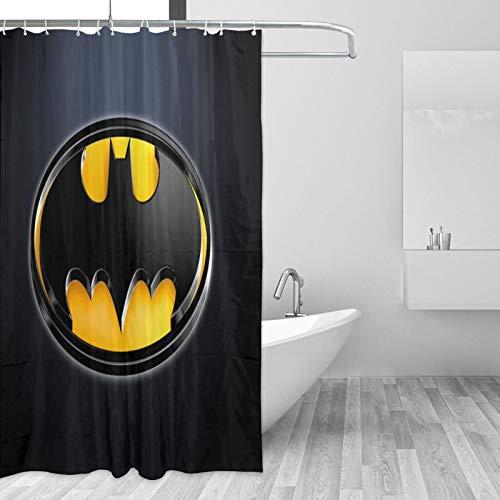 Why So Serious Joker Batman Duschvorhänge Schimmelresistent Waschbar 180 x 180 cm 3D Digital Landschaft Gedruckt Wasserdicht Badezimmer Badvorhang Polyestergewebe mit 12 Haken