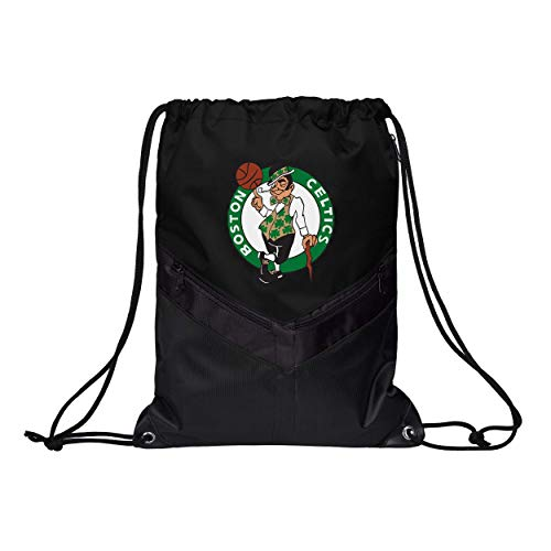 FOCO NBA Boston Celtics Unisex Big Stripe Zipper Drawstring BACKPACKBIG Stripe Zipper Drawstring Backpack, Team Color, OS