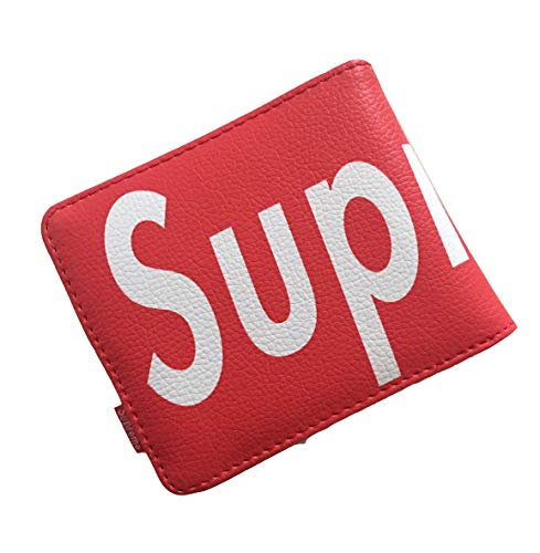 HypeOutfit Portemonnaie Leder RFID Schutz Geldbörse Geldbeutel Portmonee Super Klassische Geldbörse im Street-Style Rot