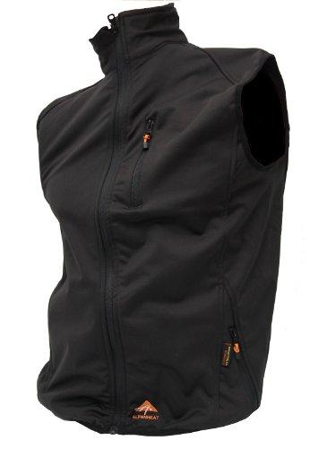 Alpenheat Unisex Heated Softshell Vest Fire-Softshell Vest Heated Softshell Vest, Schwarz, L, AJ9-L