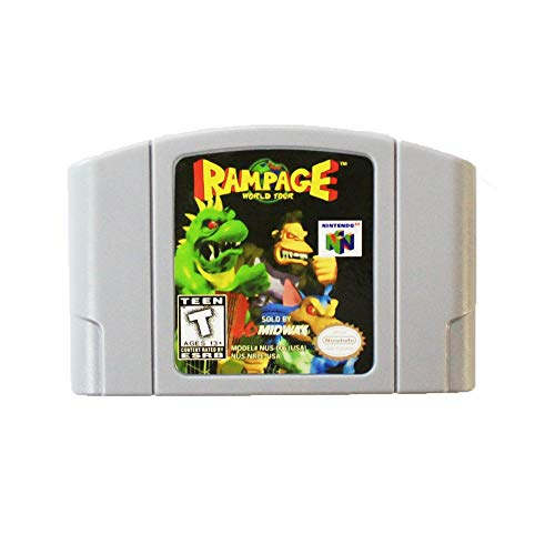New Rampage World Tour Video Game Cartridge US Version For Nintendo 64 N64 Game Console