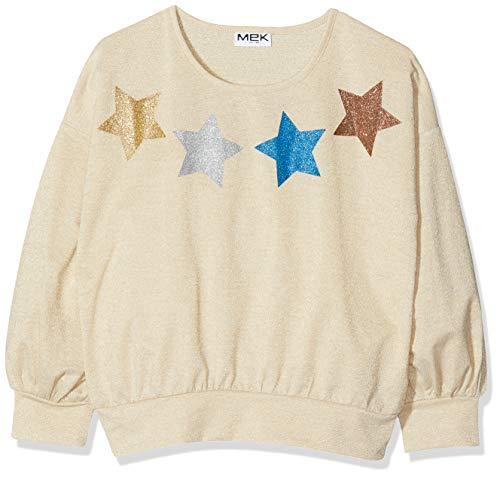 MEK T-Shirt Jersey Tinto Filo Lurex Camiseta de Manga Larga, Beige (Beige...