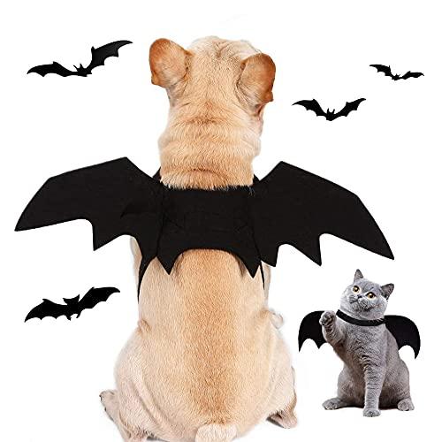 Halloween Costume Chauve-Souris pour Animal Domestique, Chic Ailes de Chauve-Souris pour Chat Chien, Animaux de Compagnie Bat Wings, Costumes Halloween Chien Chat Vêtements Cosplay Bat