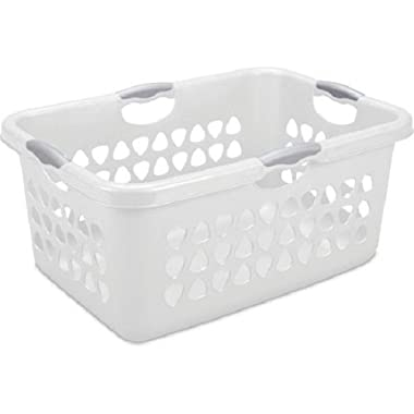 Sterilite 2 Bushel Laundry Basket, White, Case of 4