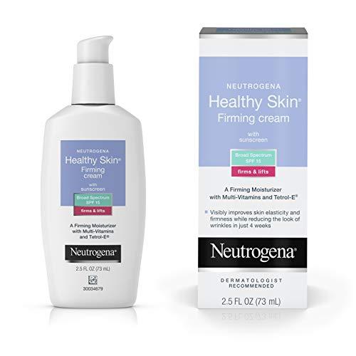 Neutrogena Healthy Skin Glycerin & Green Tea Firming Face Cream Moisturizer & Neck Cream with SPF 15 Sunscreen - Anti Wrinkle Cream, Face Moisturizer for Dry Skin & Neck Firming Cream, 2.5 fl. oz