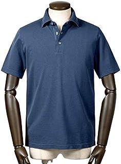 サンモリッツ S.MORITZ / 19SS!製品染めドライコットン鹿の子半袖ポロシャツ『A31602』 (ブルー) メンズ