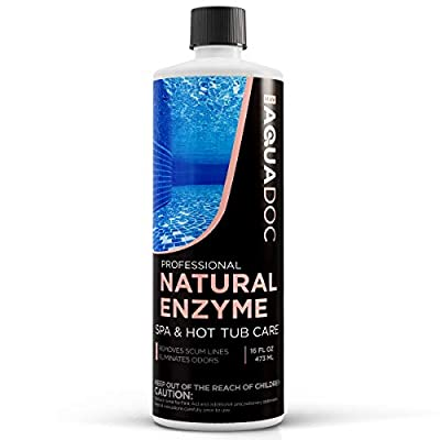 Spa Enzyme for Hot Tubs, Spa Enzyme Water Treatment to Clarify Hot Tub Water. Natural Enzyme Hot Tub Cleaner, Spa Enzyme Cleaner & Natural Hot Tub Chemicals to Make your Spa Perfect - 16oz MAV AquaDoc