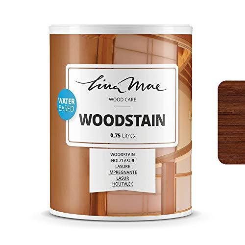 Holzlasur (Lack) mit Matte Oberfläche Wasserbasiertem - Offenporiger Protektor für Dekorieren und Schützt Frischholz und Altholz Ideal für Stühle, Türen und Tische (750 ml, Teak)
