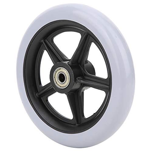 Rueda sólida, 6 pulgadas de carga máxima 120 kg Reemplazo de ruedas de silla de ruedas de una sola rueda, Material de goma Pies de repuesto Accesorios para sillas de ruedas Hogar para