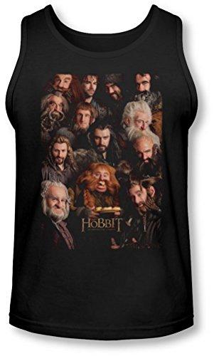 The Hobbit - - Nains affiche Tank-Top pour hommes, XX-Large, Black