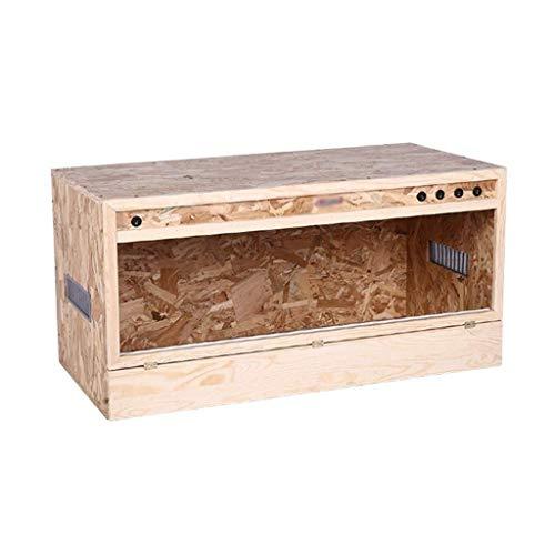 WSJ Pet Reptile MDF Box, Uhr Isolierung Schildkröte Eidechse Gecko Schlangennest, Vogelratte Roost Vivarium Käfig (Größe: 100 * 50 * 50CM)