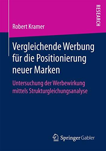 Vergleichende Werbung für die Positionierung neuer Marken: Untersuchung der Werbewirkung mittels Strukturgleichungsanalyse