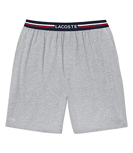 Lacoste Short Sous-vetements Pantalones de Pijama, Gris (