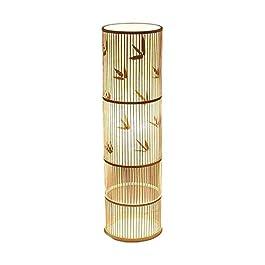 DIEFMJ lampadaire créatif rotin Salon lampadaire canapé lampadaire étude Chambre Vertical Lampe de Table personnalité…