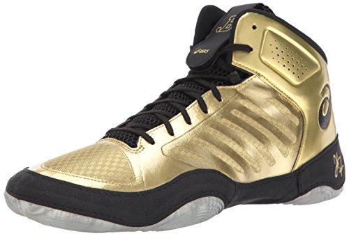 ASICS Men's JB Elite III Wrestling Shoe, Rich Gold/Black, 11 Medium US