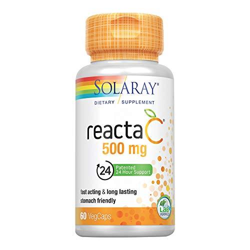Solaray Reacta C with Bioflav Vitamin Capsules, 500 mg, 60 Count by Solaray