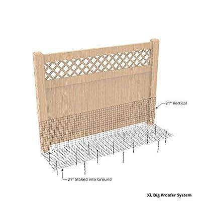 """Dig Proofer Kit for Preventing Digging Under Fence - 24"""" x 50 Feet"""