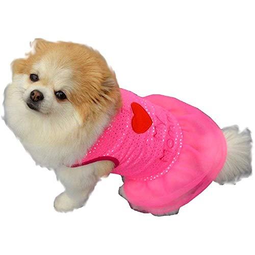 Legisdream Vestititino für Cagnolina geschrieben mit I Love Mommy I Love Mommy Farbe Fuchsia Größe M Dolcissima Dressing Idee für Freunde Puppy Tierfreundlich