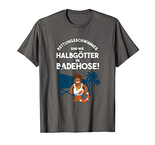 Rettungsschwimmer Badehose Bademeister Schwimmbad Geschenk T-Shirt