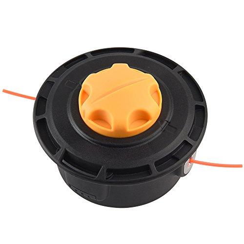 FEPITO M10x1,25 Links Fadenkopf Mähkopf für Rasentrimmer Freischneider Motorsense Benzin, Laden Sie Fäden schnell und einfach