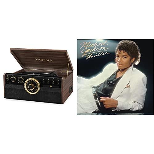 Victrola Empire Chaîne Stéréo 6-en-1 Platine Vinyle Bluetooth - Expresso & Thriller