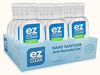 Avalon Pharma Ez-Clean Hand Sanitizer, 50 ml Set of 12 Pieces