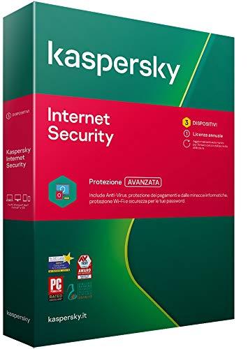 Kaspersky Internet Security 2021 | 3 Dispositivo | 1 Anno | PC / Mac / Android | Codice di attivazione via posta