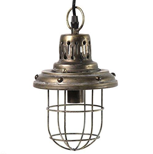 Decostar 763909 Onion - Lámpara de techo (latón envejecido, metal, 16 x 32 cm, máximo 40 W)