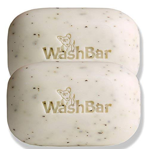 WashBar Natural Dog Shampoo Bar - Natural Bar Soap and Dog Shampoo For Allergies and Itching and Sensitive Skin, Easier to Use Than Liquid Shampoo With No Plastic Bottle Waste, 2pack