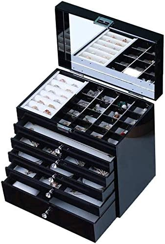 Ranking TOP14 MWXFYWW Jewelry Box for Women Boxes Jewe Large Capacity Max 57% OFF 6 Layers