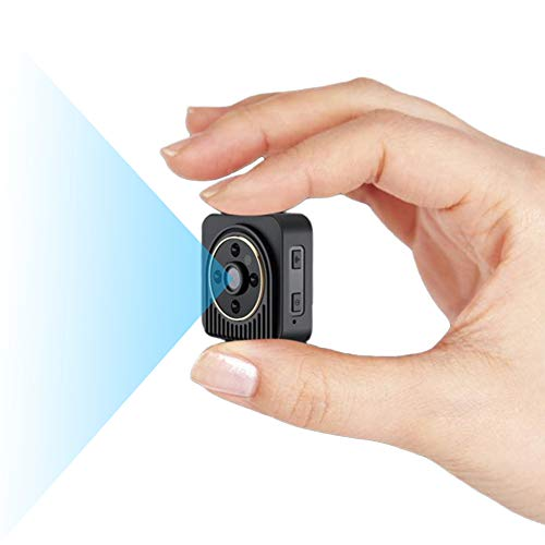 RNNTK Oculta WiFi Cámara De Vigilancia, Detección De Movimiento Visión Nocturna Micro Camara Espia Vigilancia Remota,150 Grados De Gran Angular Portátil Cámara para Hogar Aula Tienda