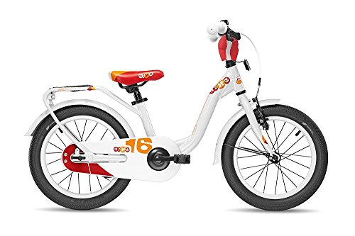 S'COOL Kinder niXe Alloy 16 Kinderfahrrad, White Red, Zoll