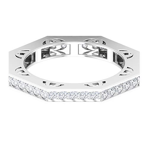 Rosec Jewels 14 quilates oro blanco round-brilliant-shape H-I Diamond