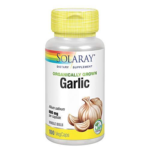 12. Solaray – Organically Grown Garlic