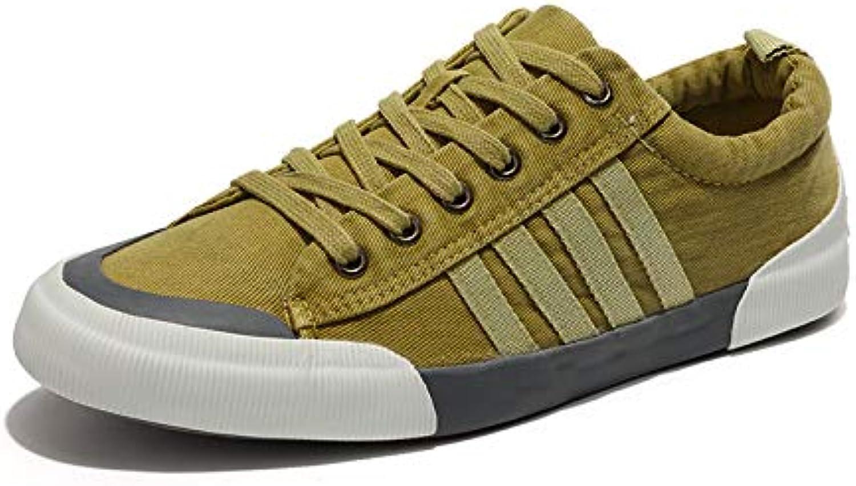 LOVDRAM Men'S shoes Canvas shoes Men'S Fashion Tie Casual Students Retro Canvas shoes