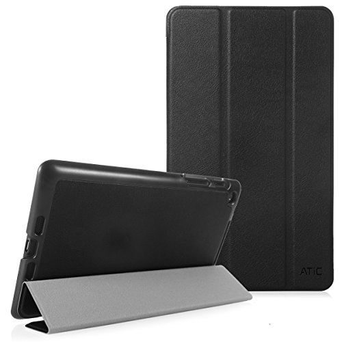 Google Nexus 7 ケース - ATiC Google New Nexus 2013 7.0インチタブレットケース カバー 超薄型 軽量 オートスリープ機能 三つ折スタンド 開閉式 BLACK